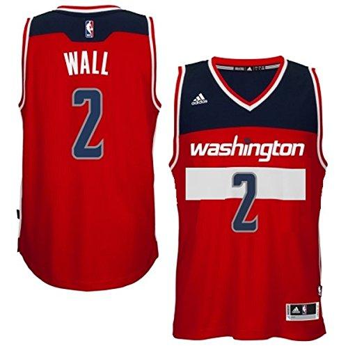 John Wall Washington Wizards #2 NBA Youth Replica Road Jersey Red (Youth Medium 10/12)
