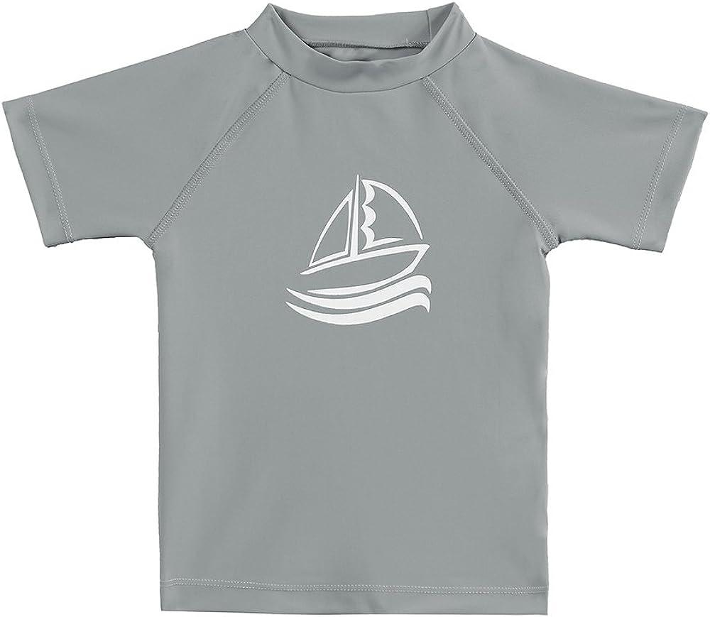 ESTAMICO Kinder Kurzarm Rashguard Jungen Schwimmen Shirt Sonnenschutz LSF50 Badeanzug