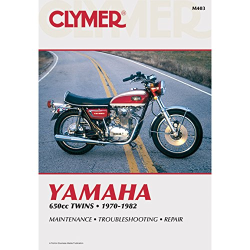 Clymer Repair Manual for Yamaha 650 Twin - System Manual Service