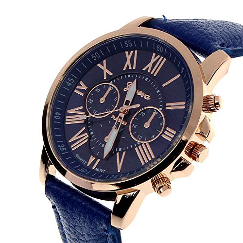 Amazon.com: Casual Watch Women Dress Watches Roman PU Leather Quartz Wristwatch Women Men Relogio Masculino Erkek KOL Brown: Jewelry