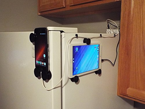 Universal cell phone / tablet refrigerator mount, holder