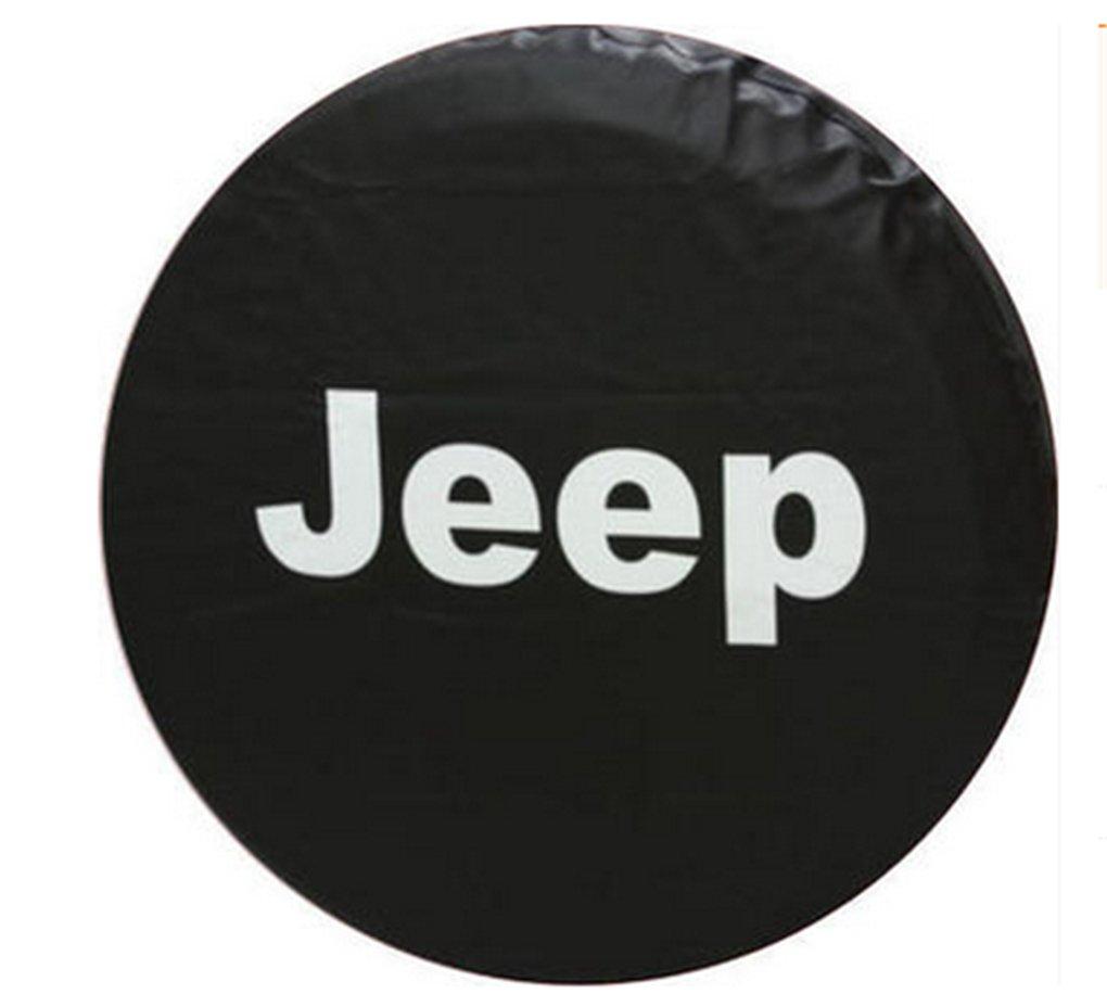 スタイリングキャンバススペアタイヤカバー17インチfor Jeep Wrangler、Rubicon、Liberty 4サイズ車スペアホイールカバー B01M3487QS