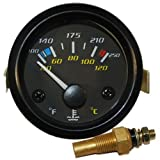 Hi-Visibility Water Temperature Gauge F & C for Car Boat Truck