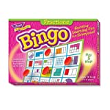 Fractions Bingo Game, 3-36 Players, 36 Cards/Mats