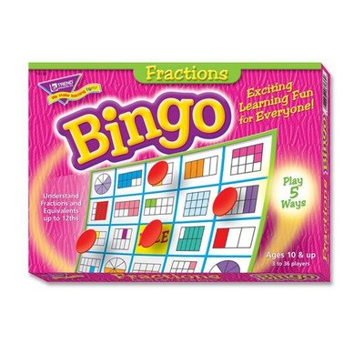 Fractions Bingo Game, 3-36 Players, 36 Cards/Mats by Trend Enterprises