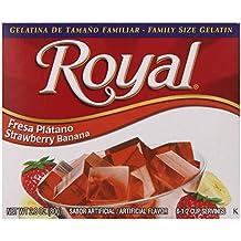 Royal Bilingual Gelatin, Strawberry Banana, 2.8-Ounce (Pack of 12)