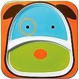 Skip Hop Zoo Little Kid Melamine Feeding Divided Plate, Darby Dog