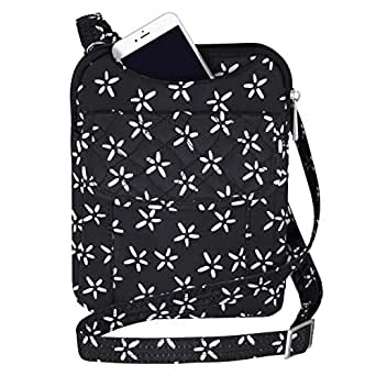 Travelon Anti-Theft Signature Slim Pouch (A B/W Small Flower Print)
