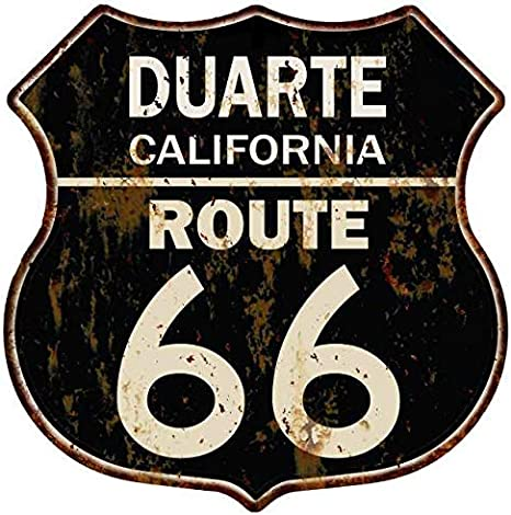 Amazon.com: Duarte, California Route 66 Escudo de Metal ...