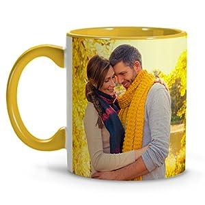 Taza Personalizada con tu Foto, Texto, Imagen o Nombre. Interior y asa de Color. Regalo Original 9