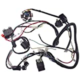 Supermotorparts 150CC GY6 Wiring Harness Wire Loom Stator CDI Switch Electrics Assembly for 4-Stroke Engine 150CC 125CC Go Kart ATV Scooter Buggy
