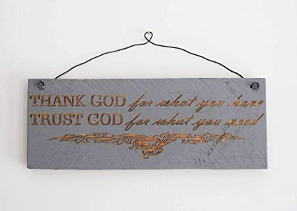 Amazoncom Ruskin352 Printed Pallet Wood Sign Thank God For What