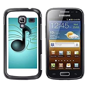 Paccase / SLIM PC / Aliminium Casa Carcasa Funda Case Cover - Music Notes - Samsung Galaxy Ace 2 I8160 Ace II X S7560M