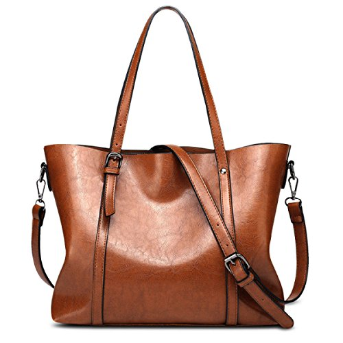 Gym Large Classic Satchel Shopper Leather Tote Handbags Holiday Women's Crossbody Ladies Soft Brown Bag Bag SqFIdw7x