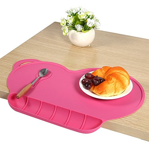 Childrens Placemats Silicone Suction Non Slip Baby Eating