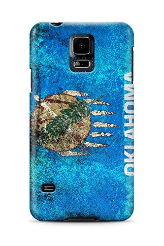 Distressed Oklahoma State Flag - Slim Phone Case - Samsung Galaxy S5 (Oklahoma State Brown Leather)