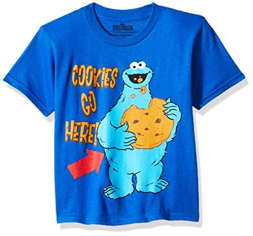 Sesame Street Cookie Monster Toddler Boys T-Shirt, Royal, 2T ()