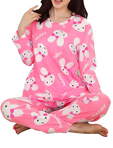 VENTELAN Womens Rabbits Printed Sleepwear