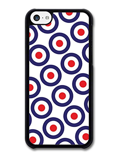 Classic Mod Target Pattern on White Minimalist Design case for iPhone 5C