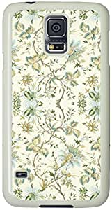 Vintage Floral Pattern Samsung Galaxy S5 Case with White Skin by supermalls