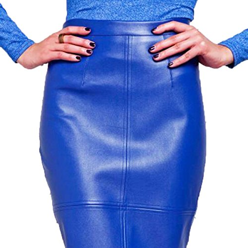 EkarLam Women Pu Leather Cocktail Formal Elegant Knee-Length Bust OL Pencil Skirts hot sale