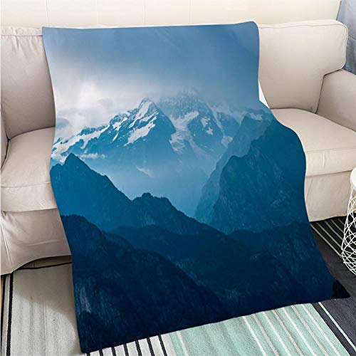 BEICICI Super Soft Flannel Thicken Blanket Italian Alps Monte Rosa Mountain Range Landscape at Sunset Sofa Bed or Bed 3D Printing Cool Quilt