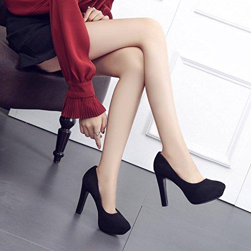 A Primavera Scarpe Tacchi Camoscio Spessore da Le Ha donna Uno Signore E Scarpe Scarpe Impermeabile Super Di black Dodici Violento HBDLH Spillo Solo Centimetri q4BSpwUt