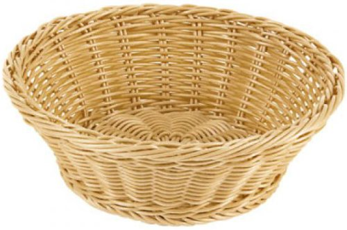 Paderno World Cuisine Reinforced Round Polyrattan Bread Basket, 10 1/8-Inch by Paderno World Cuisine