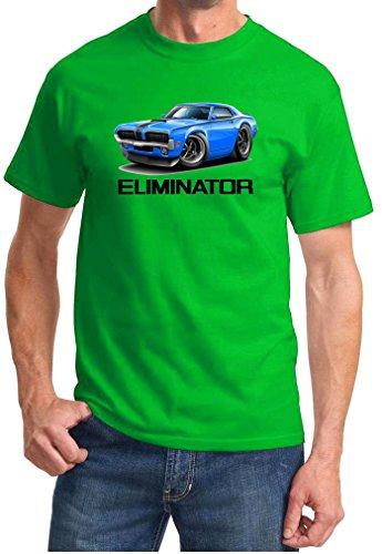 1970 Mercury Cougar Eliminator Full Color Design Tshirt Small Lime ()