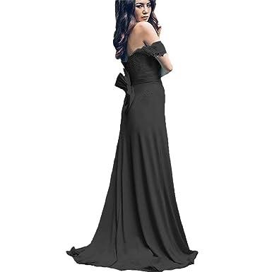 cd6144552ab5 Women s Lace Mermaid Bridesmaid Dresses Off Shoulder Prom Dresses 2018 Long  Formal Gowns Black US2