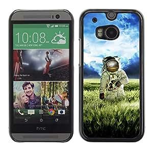 CASETOPIA / Funny Duck Illustration / HTC One M8 / Prima Delgada SLIM Casa Carcasa Funda Case Bandera Cover Armor Shell PC / Aliminium