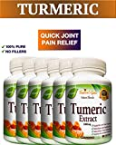 6 BOTTLES 360 Capsules TURMERIC CURCUMIN - Quick Anti-Inflammatory Joint Pain Relief - Antioxidant and Anti-Aging Health Benefits - 100% Pure Organic Supplement