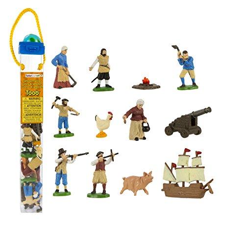Safari Ltd Jamestown Settlers TOOB with 12 Fun Figurines, Including
