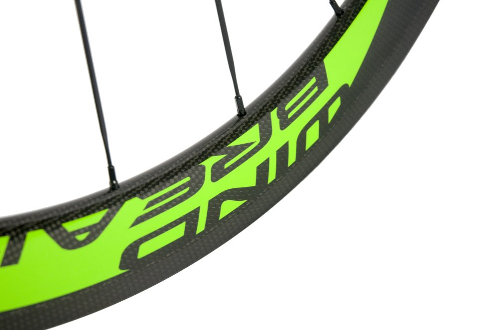 Sunrise Bike Carbon Fiber Road Wheelset Clincher Wheels 50mm Depth R13 Hub Decal Bicycle Rims by SunRise (Image #6)