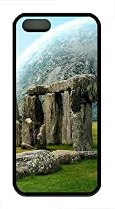 iPhone 5S Cases and Covers - Stonehenge And A Planert TPU Silicone Case for Apple iPhone 5S/5 - Black WANGJING JINDA