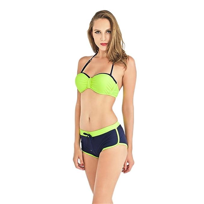 Dabag-Verano Mujer Bañador De Dos Piezas Conjuntos Push-up Sling Bikini: Amazon.es: Ropa y accesorios