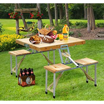 Amazon.com : Clever Market Outdoor Wood Portable Camping ...