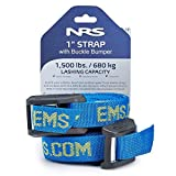 NRS 1 in. Heavy-Duty Buckle Bumper Straps, 15 ft. Pair Blue One Size