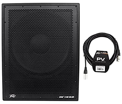"Package: Peavey DM 118 18"" 1000W Painted Wood Active Powered PA Speaker+Digital DSP Dark Matter Force Cooled and Vented Base + Peavey PV 20' XLR Female to Male Low Z Mic Cable by Peavey"