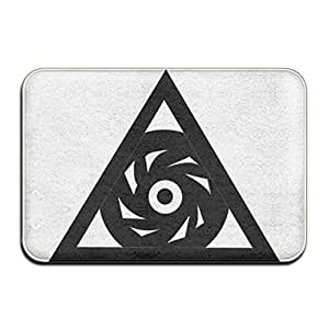 lingliii Illuminati Símbolo Triángulo Fresco Doormats
