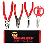 VamPLIERS. Best Made Pliers! Cyber Monday Deal! 4-PC Set S4CPC Specialty Screw Extraction Pliers. Extract Stripped Stuck Security, Corroded, or Rusted Screws + Tool Pouch & VT CAP