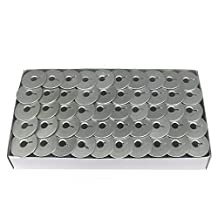 100 Aluminum Bobbins For Long Arm Quilting Machine (Viking Mega Quilter 18, Pfaff Grand Quilter 18 Machines & more) by Cutex Sewing Supplies