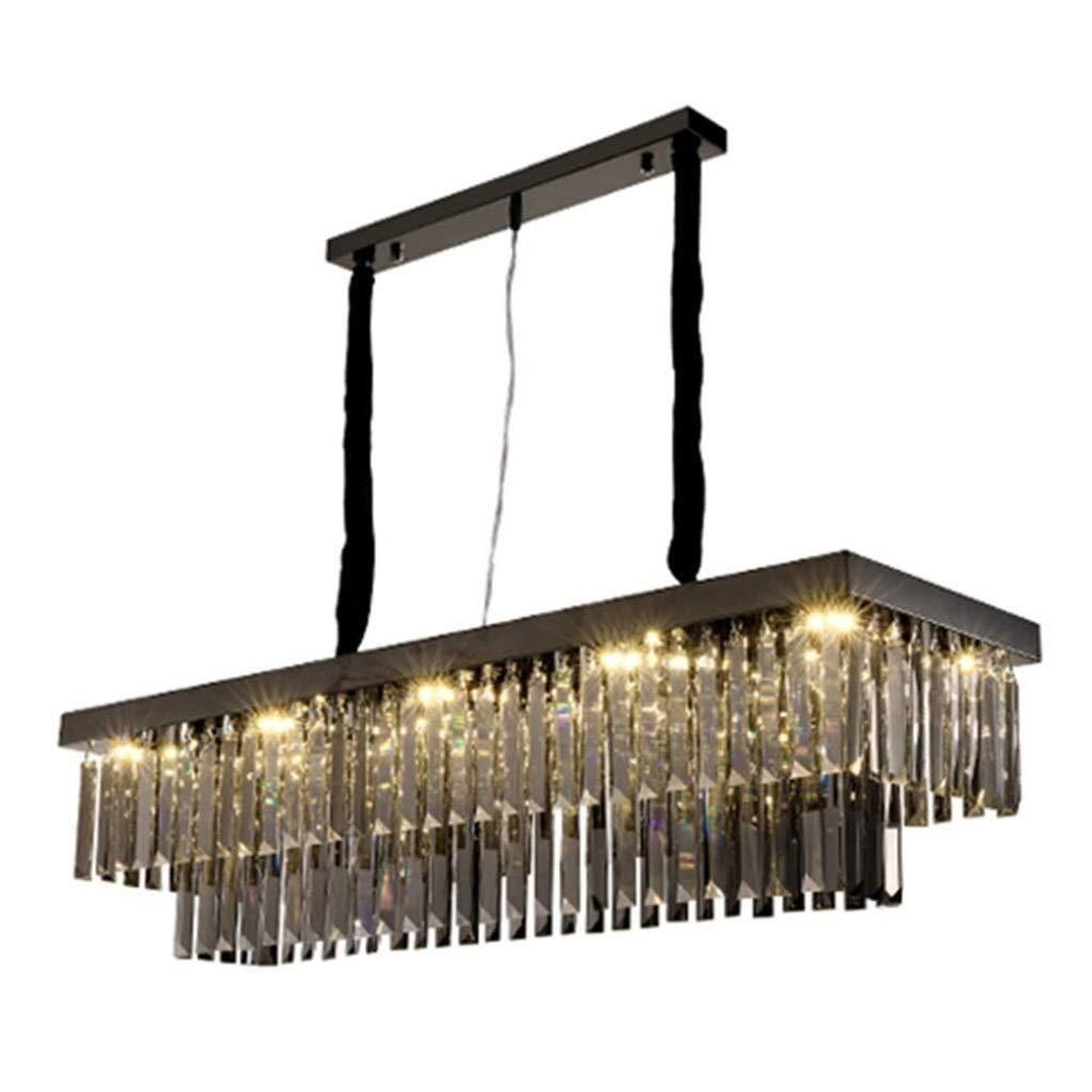 Office Ceiling Lights Black Rectangular Chandeliers Dining Light Home Living Room Crystal Ceiling Light(Size : 100 30 80cm) 111V~240V Energy Level A+++ (Size : 803080cm) by Xk-Ceiling Lights