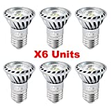 Xpeoo® 6pcs High Power E27 E26 Base LED Bulbs 6w Equivalent to 50w Halogen Light Spotlight Down Lamp Energy Saving Recessed Tracking Lamps Non-dimmable 2700k Warm White