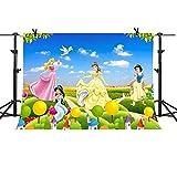 MME 10x7Ft Blue Sky Background Disney Cartoon Princess Children Photography Seamless Vinyl Background Video Studio Photograph Backdrop NANME672