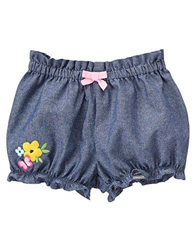 Gymboree Toddler Girls' Bubble Short, Chambray, 0-3 Months