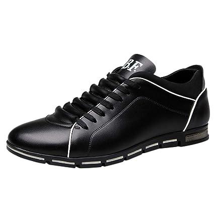 2ea237d9569 Amazon.com: Hunzed Men【Business Casual Leather Shoes】Clearance ...