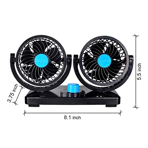 beneu double headed window car fan cooler vehicle 12v 360 rotating free adjustment dual head. Black Bedroom Furniture Sets. Home Design Ideas