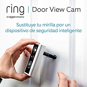 Ring Door View Cam   El videotimbre con vídeo HD 1080p y comunicación bidireccional   Para puertas con un grosor de 34 a 55 mm   Incluye una prueba de 30 días gratis del plan Ring Protect