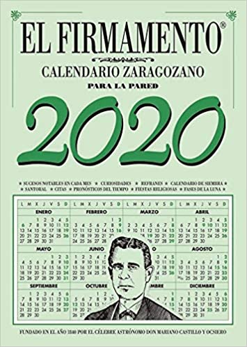 Zaragozano - Calendario Para la Pared, 2020: Amazon.es: Vv.Aa, Vv.Aa, Vv.Aa.: Libros